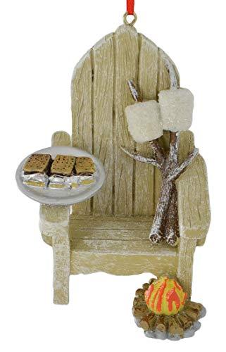 Kurt Adler Adirondack Chair and S'mores Ornament