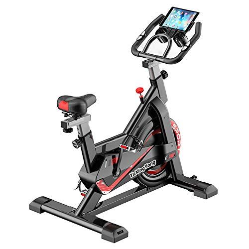 Cyclette Aerobica Indoor, Portante 150KG, con Supporto for Tablet, Cyclette Muta for Attrezzatura Fitness Domestica, Cardio Bike