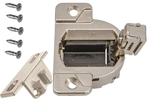 Blum 33.3600 110 Degree Compact 33 Hinge Cup with 1 1/2 Overlay mounting Plate (Part# 130.1150.02) Pack of 4 Sets