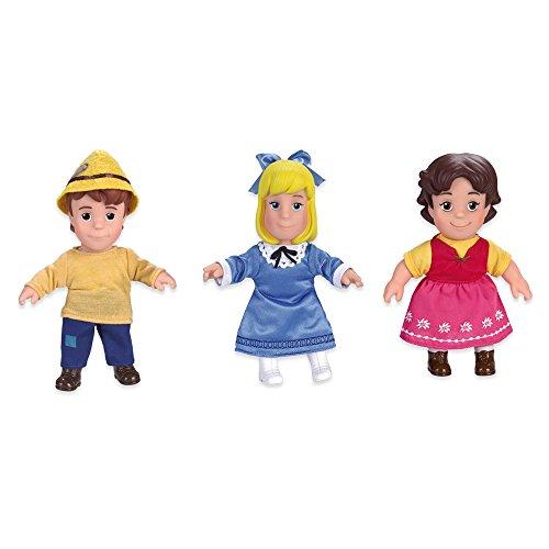 Famosa 700012930–Soft Juego de muñecas con Heidi, Peter y Klara en paquete de regalo, 17cm , color/modelo surtido