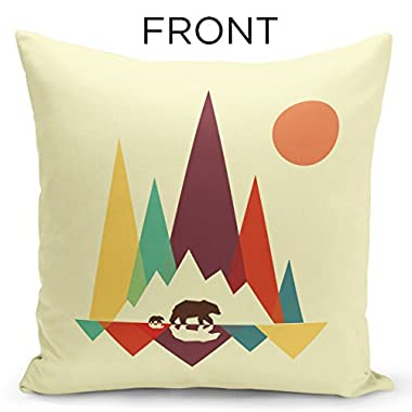 iNuvole Geometric Nature Wild Animal Lovers Penguin & Bear 18 x 18 inches Silky Soft Square Home Decorative Throw Pillow Covers with a Double-sided Print for Sofa Couch