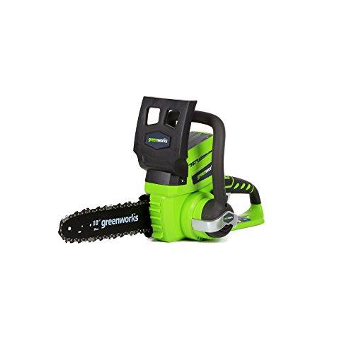 Greenworks 10-Inch 24V Cordless Chainsaw, Battery...