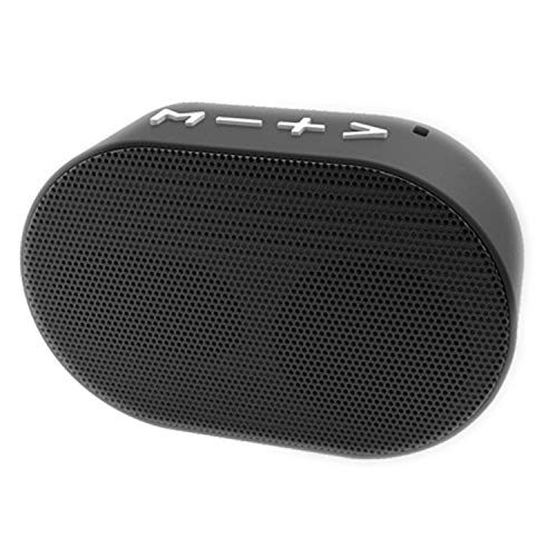 ShopMagics Bluetooth Speaker for Intex Boss Bluetooth Speaker Wireless Metal Pocket Size Portable Stereo Audio Super Deep Bass With Mic/Call | Built-in FM Radio | TF/SD Card | USB Port/Pen Drive (BTS, Black)