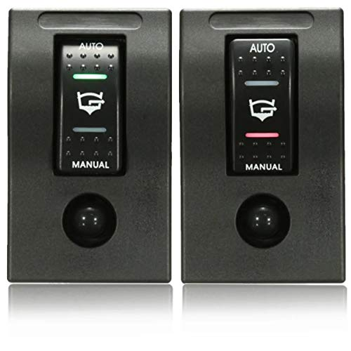 Luz de búsqueda marina, Interruptor de doble LED Rocker bomba de achique el interruptor del cuadro de desconexión automática 12V Manual