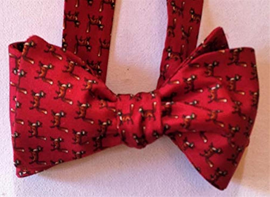 Silk Bow Tie for Men - Foxy - One-a-Kind - Self-tie, Adjust - Free Shipping