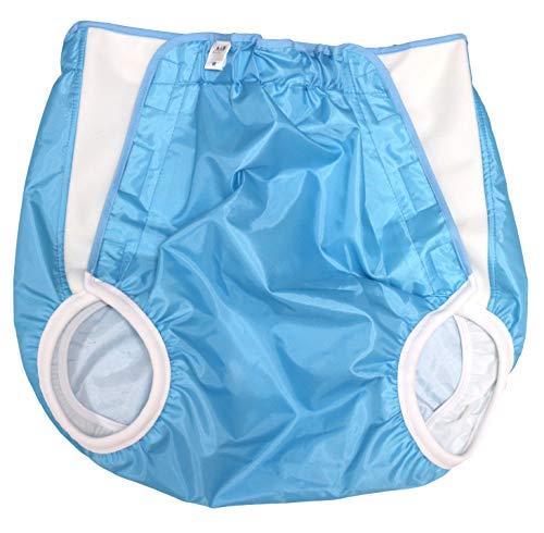 おむつカバー 大人用 日本製 抗菌防臭加工 マジックテープ式 [ゴミ箱用消臭剤付 ブルー] (LL)