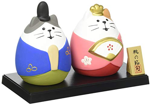 デコレ(Decole) 置物 節句飾り 猫雛セット 13.2×7×H9cm コンコンブル concombre ZMM-17261