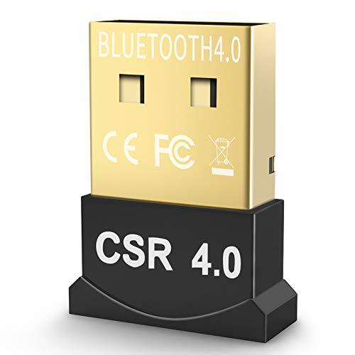 YBLNTEK Dongle Bluetooth, inalámbrico USB 4.0 CSR Bluetooth Dongle, receptor transmisor Bluetooth para ordenador portátil, Windows 10/8/7/XP, auricular Bluetooth, teclado, ratón, Plug and Play