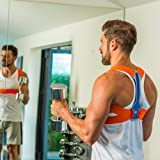 BackPainHelp Posture Hero Sports for Men & Women - Award Winning Posture Support (Blue/Orange, Small/Medium)