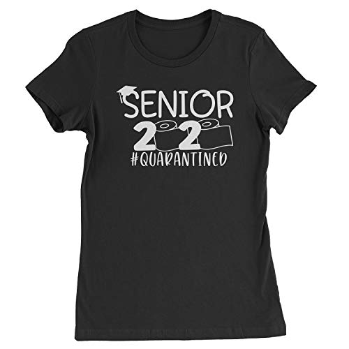 Expression Tees Womens Seniors 2020 Quarantined Toilet Paper T-Shirt Small Black