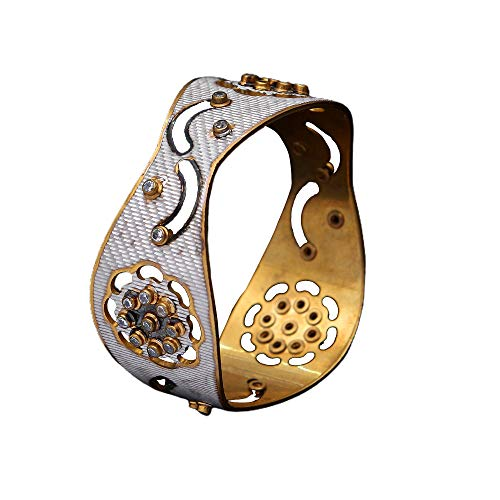 JewelryGift Unique Beautiful Bracelet Simple Designer Gold Plated Bracelet Ethnic Indian Fashion Jewellery for Girls Ladies Single MBL 10-6