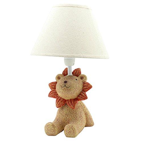Lion Créatif Nuit Lumière Collection Collectible 3D Led Table Lampe de Bureau Photos Enfants Lampe de Table Lampe de chevet (Color : A)