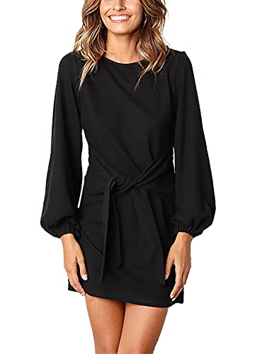 PRETTYGARDEN Women's Elegant Long Lantern Sleeve Short Dress...