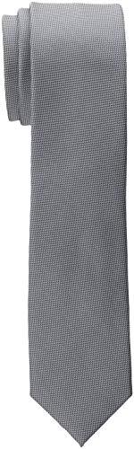 ESPRIT Collection Herren 998EO2Q803 Krawatte, Grau (Dark Grey 020), One Size (Herstellergröße: 1SIZE)