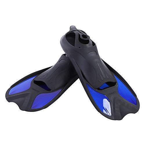 Focket Schnorchel-Schwimmflossen,verstellbare Schnallen mit offener Ferse Schwimmflossen Kurze Schwimmflossen zum Tauchen Schwimmen Tauchen Schnorcheln Wassersport,Blau (M/L/XL)(L.)