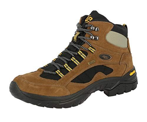 Brütting Chimney Rock Unisex Erwachsene Trekking- & Wanderstiefel, Braun/ Schwarz/ Gelb, 42 EU