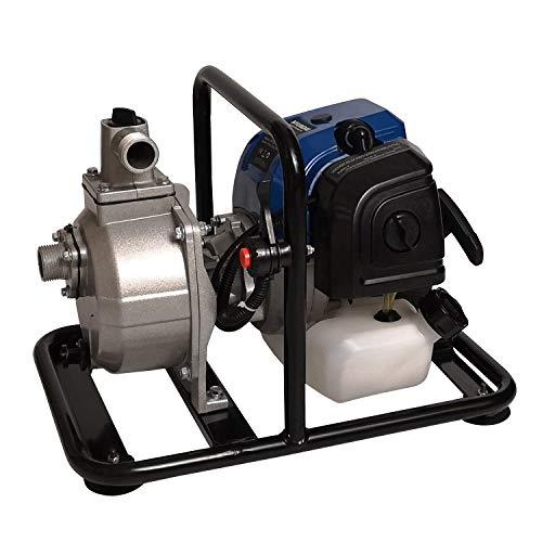 HYUNDAI Benzin-Wasserpumpe GWP57641 mit 1.9 PS Motor, 12.000 l/h Fördervolumen, 22 m Förderhöhe (Motorpumpe, Gartenpumpe, Pumpe, Teichpumpe)
