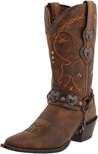 Durango Crush Cowgirl-Frauenstiefel, Braun - Saddle Brown W/Tan & Brown - Größe: Frau 36 EU