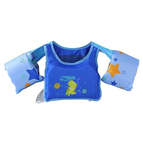 Gidenfly Brazalete de natación para niños, chaleco salvavidas con dibujos animados, manguitos flotantes para niños pequeños, dispositivo de agua, deportes de playa