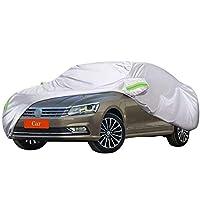 フォルクスワーゲンパサートと互換性のある車のカバー、自動車用ジッパーミラーポケット付き屋外雨紫外線日焼け止め、全天候型防水 2011年モデル