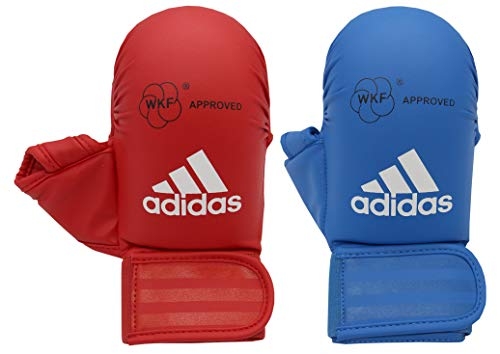 adidas Mitts with Thumb WKF-Guantes de Karate con Pulgar, Unisex Adulto, Rojo, Small