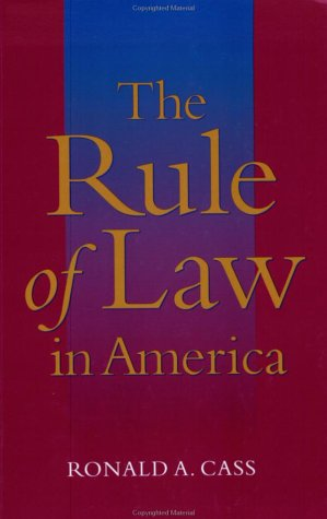 Download The Rule of Law in America 0801874416