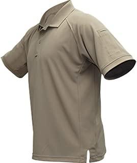 Vertx Men's Cold Short Sleeve Polo Shirt, Mens, F1 VTX4000P TN Small Vertx Coldblack Men's Short Sleeve Polo - Tan, VTX4000, Tan, Small
