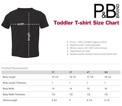 P&B Pirate Skull Red Bandanna Toddler T-shirt, 4T, Red
