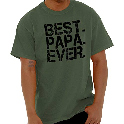 Best Papa Ever Worlds Best Dad Fathers Day T Shirt Military Green