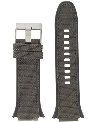 Diesel LB-DZ1885 - Correa de repuesto para reloj (caucho, 20 mm), color negro y gris