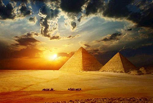 Clásico Puzzle de 1000 Piezas para Adultos,Pirámides egipcias 75x50CM,Rompecabezas de descompresión del juego educativo para niños DIY, Regalo Único Decoración Para El Hogar