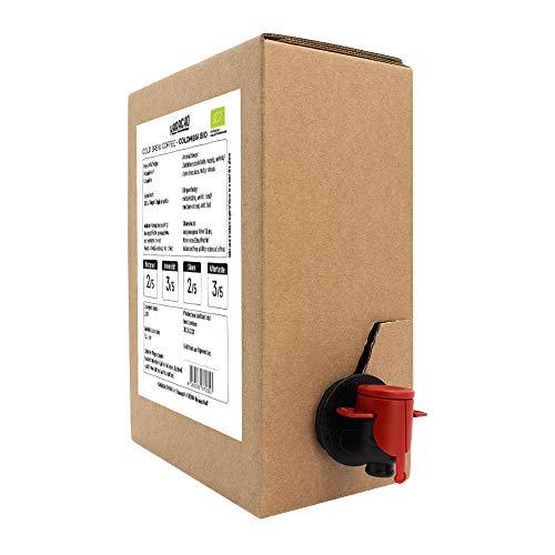 1,5 Liter Karacho Colombia Bio | Cold Brew Coffee | Kaffee Kaltgetränk | Bag-in-Box | VITOP Vakuumzapfhahn für lange Frische und Haltbarkeit | Vegan | Bio | Ohne Zucker