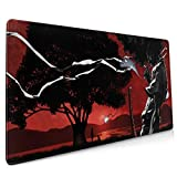 Afro Samurai Large Gaming Mouse Pad (35.43 X 15.75X 0.12inch) Extended Ergonomic for Computers Thick Keyboard Mouse Mat Non-Slip Rubber Base Mousepad
