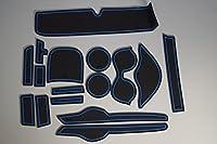 KINMEI(キンメイ) トヨタ Vitz ヴイッツ 130系 車種専用設計 青 ラバーマット ドアポケットマット インテリア インナー ノンスリップマット ゴムマット ドリンクホルダー 滑り止め TOYOTAk-20