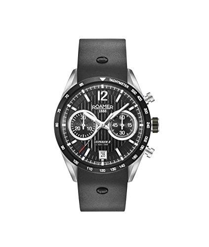 Roamer Herren Chronograph Quarz Uhr mit Silikon Armband 510902 41 54 05