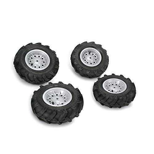 Rolly Toys 409242 - Luftreifen (4 Stück, für RollyToys Fahrzeuge, Größen: 2 x 325x110 / 2x 310x95)