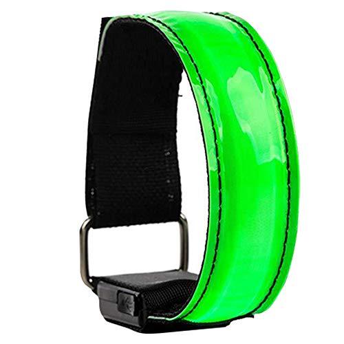 Armband Led Sports Luminous Armband Reflective Bracelet with Flashing Lights for Night Sports Running Cycling Green