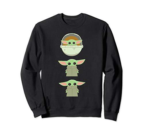 Star Wars The Mandalorian The Child Cartoon Poses Sweatshirt