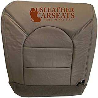 USLeatherCarSeats Compatible with 1999 Ford F250 F350 Lariat Super-Cab -Driver Side Bottom Leather Seat Cover TAN