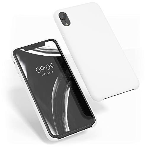 kwmobile Funda Compatible con Apple iPhone XR - Carcasa de TPU para móvil - Cover Trasero en Blanco
