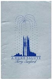A Duke Salute - Terry Sanford - Tributes, Talent, Toasts Thursday, May 2, 1985. Cameron Indoor Stadium, Duke University