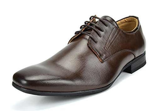 Bruno Marc Men's Gordon-03 Dark Brown Leather Lined Snipe Toe Dress Oxfords Shoes - 10.5 M US