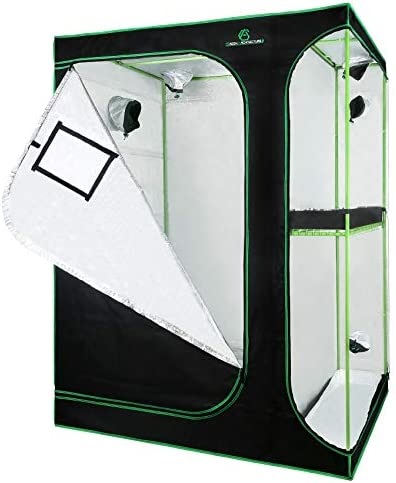 GA Grow Tent 24x24x48 36x36x72 40x40x80 Reflective Mylar Hydroponic Grow Tent with Observation product image
