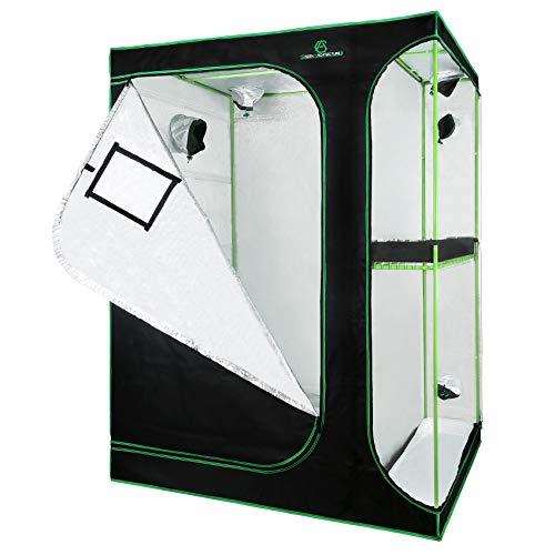 GA 2 in 1 Grow Tent 36'x24'x53' 48'x36'x72' 60'x48'x80' Reflective Mylar Hydroponic 2-in-1 Series...