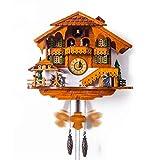Vioaplem Creativa De La Sala Reloj De Pared De Diseño De Madera Relojes Relojes De Cuco Relogio Parede Tiempo Reloj Pared Artículos del Hogar LKP173 Relojes de Cuco