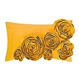 Best Flower Pillows - JWH 3D Handmade Accent Pillow Case Rose Flower Review