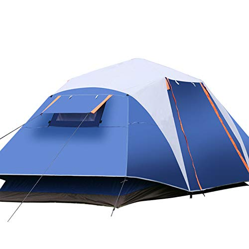 MyWheelieBin Outdoor Rainstorm-proof Multi-person Tent, Automatic Quick-open Three-person Camping Tent 4-6 people blue