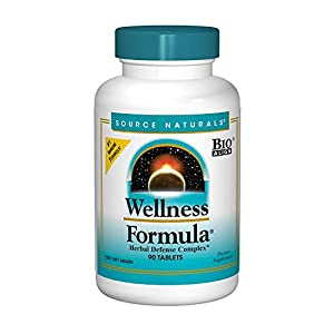 Source Naturals Wellness Formula Bio-Aligned Vitamins & Herbal Defense – Immune System Support Supplement & Immunity Booster – 90 Tablets