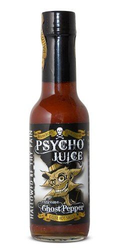 Psycho Juice extrema Ghost Pepper salsa picante