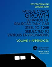 Fatigue Crack Growth Behavior of Railroad Tank Car Steel TC-128B Subjected to Various Environments Volume II, Appendices